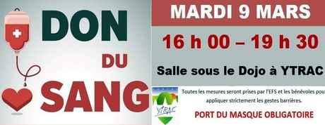 don du sang ytrac 9 mars2021