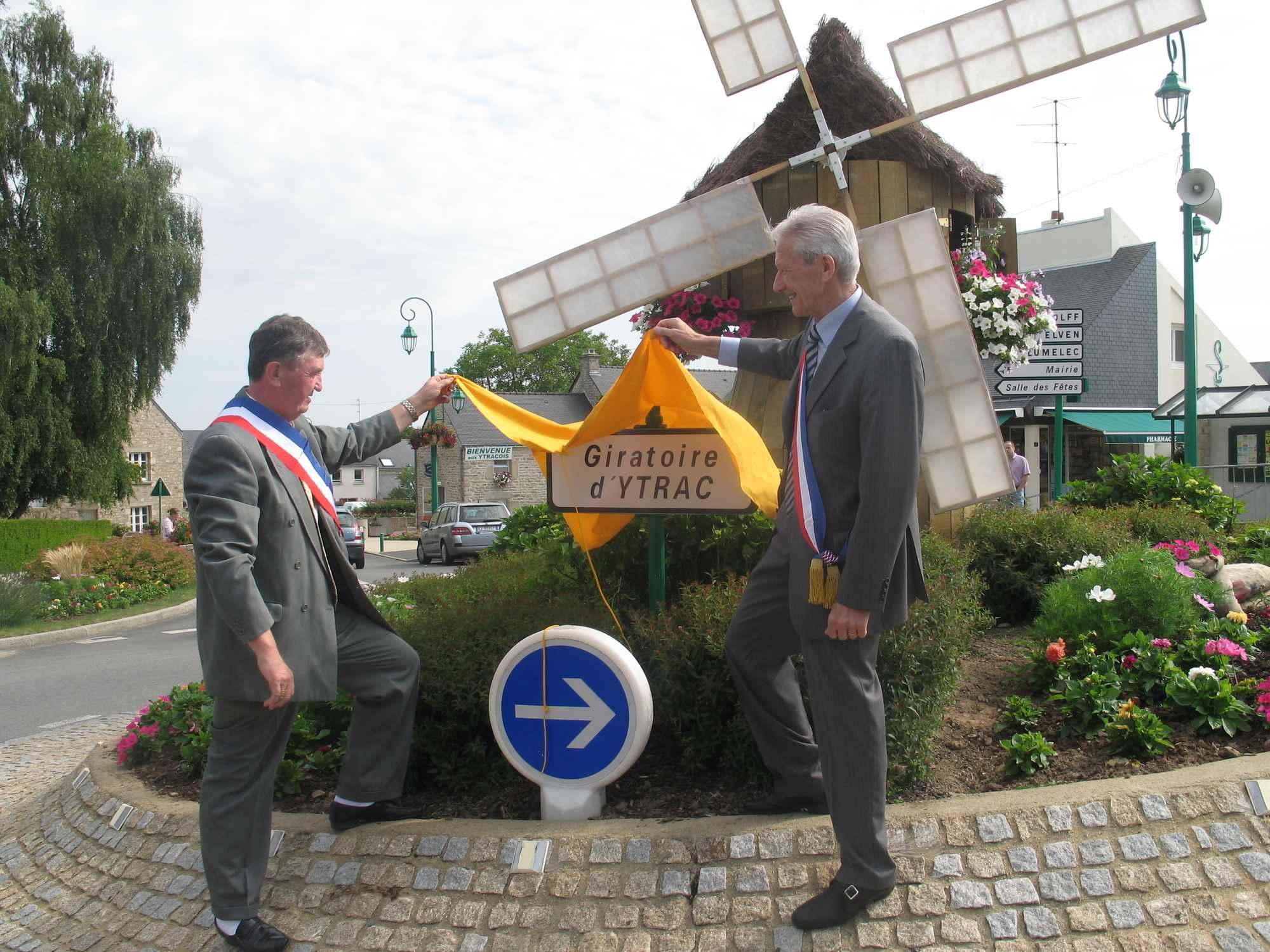 inauguration giratoire Ytrac à Monterblanc