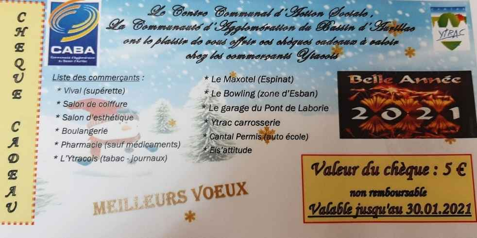 chèques cadeaux2021